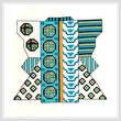 cross stitch pattern Turquoise Kimono Picture
