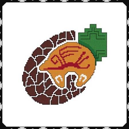 cross stitch pattern Arizona Bear