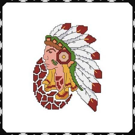 cross stitch pattern Arizona Chief