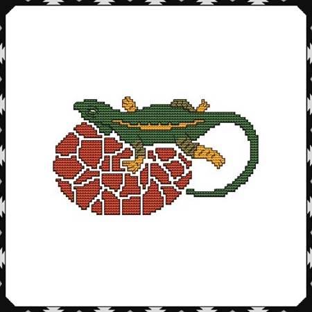 cross stitch pattern Arizona Lizard