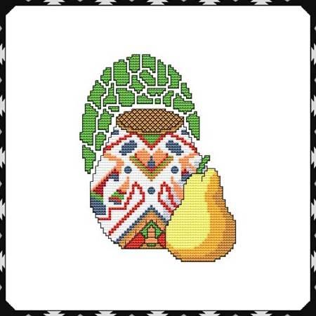 cross stitch pattern Arizona Pottery