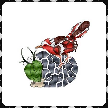 cross stitch pattern Arizona Road Runner