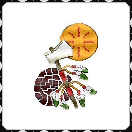 cross stitch pattern Arizona Tomahawk