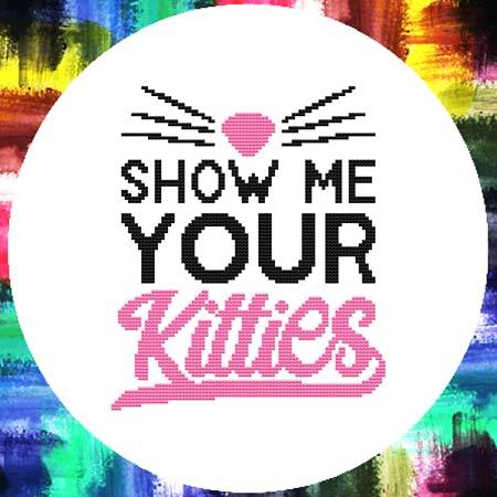 cross stitch pattern Show Me Your Kitties