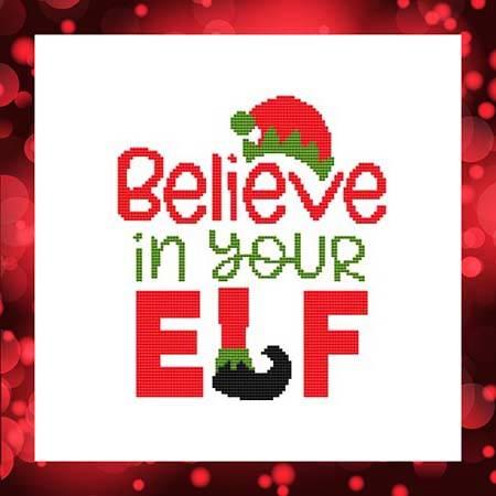 cross stitch pattern Believe In Your Elf