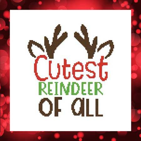 cross stitch pattern Cutest Reindeer Of All