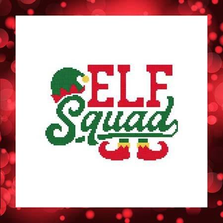 cross stitch pattern Elf Squad