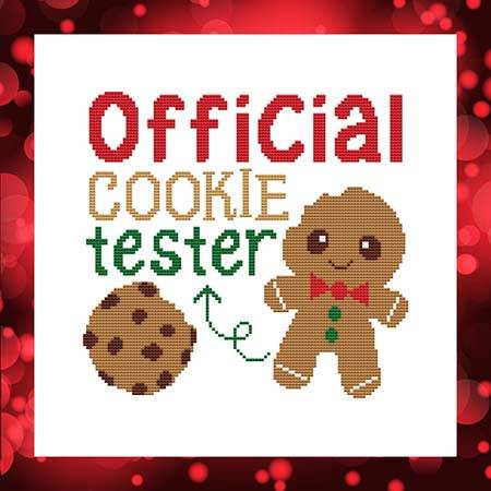 cross stitch pattern Official Cookie Tester