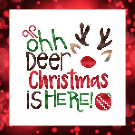 cross stitch pattern Ohh Deer Christmas Is Here!