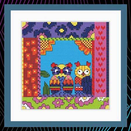 cross stitch pattern Crazy Patch Owl 11