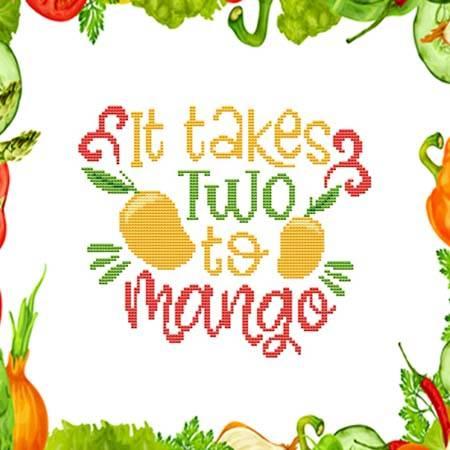 cross stitch pattern It Takes Two To Mango