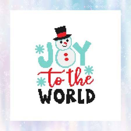 cross stitch pattern Joy To The World