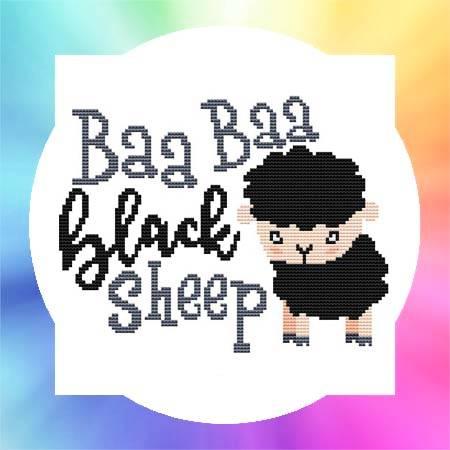 cross stitch pattern Nursery Rhyme - Baa Baa Black Sheep
