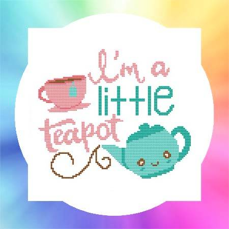 cross stitch pattern Nursery Rhyme - I'm A Little Teapot