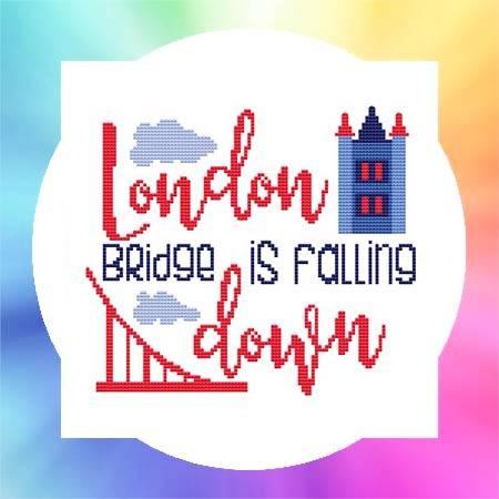 cross stitch pattern Nursery Rhyme - London Bridge