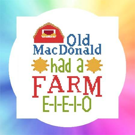 cross stitch pattern Nursery Rhyme - Old MacDonald Had A Farm