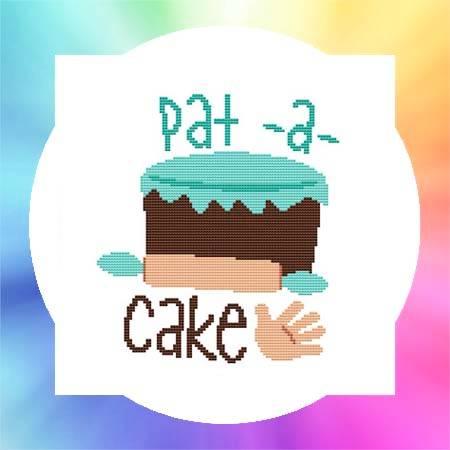 cross stitch pattern Nursery Rhyme - Pat A Cake