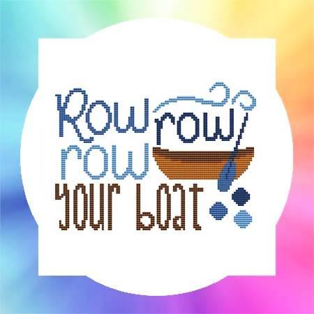 cross stitch pattern Nursery Rhyme - Row Row Row Your Boat