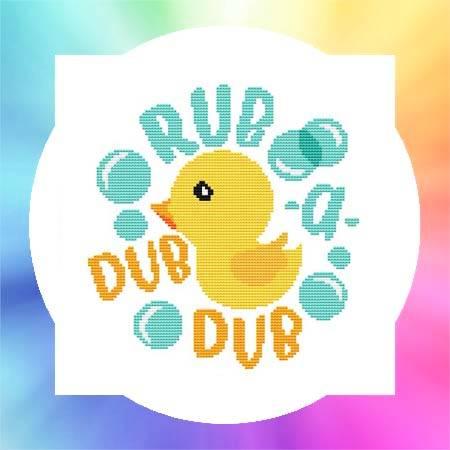 cross stitch pattern Nursery Rhyme - Rub A Dub Dub
