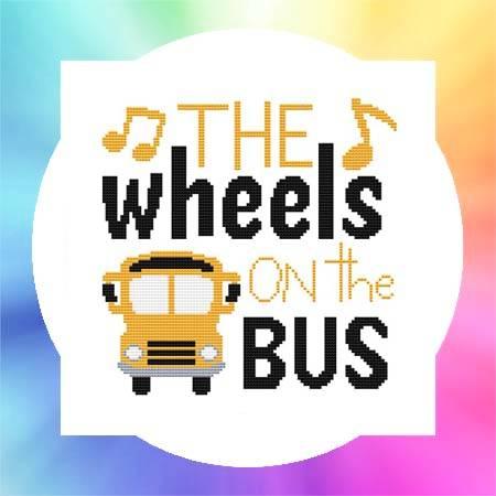 cross stitch pattern Nursery Rhyme - The Wheels On The Bus