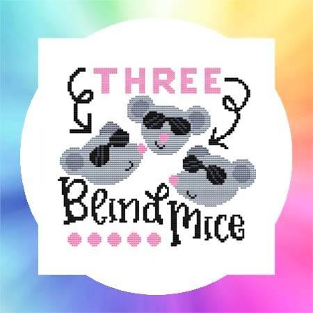 cross stitch pattern Nursery Rhyme - Three Blind Mice