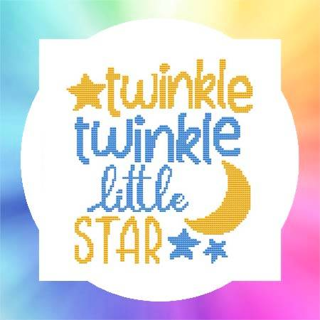 cross stitch pattern Nursery Rhyme - Twinkle Little Star