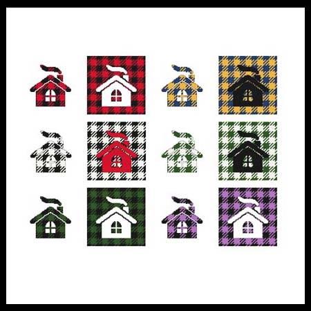 cross stitch pattern Fun With Plaid - Cabin