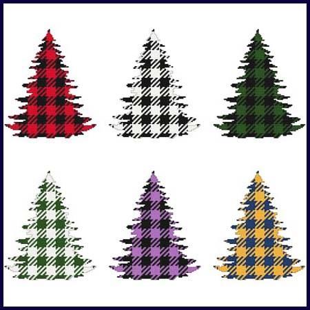 cross stitch pattern Fun With Plaid - Christmas Tree