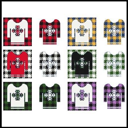 cross stitch pattern Fun With Plaid - Sweater