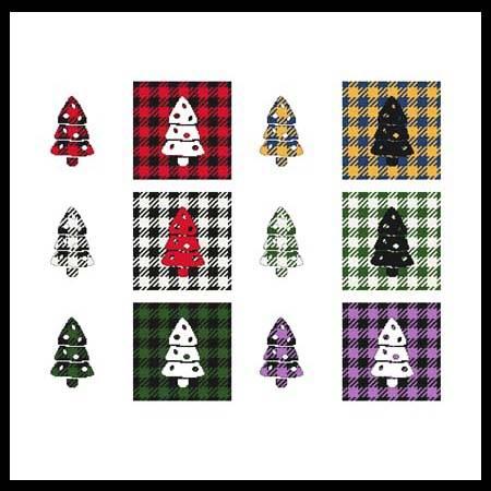cross stitch pattern Fun With Plaid - Tree