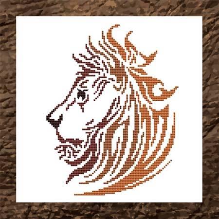 cross stitch pattern Tribal Lion