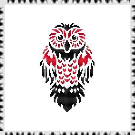 cross stitch pattern Tribal Owl 05