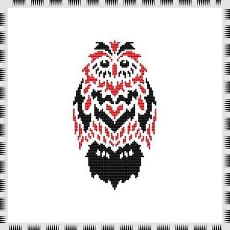 cross stitch pattern Tribal Owl 07