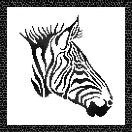 cross stitch pattern Tribal Zebra