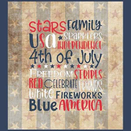 cross stitch pattern Subway Art - 4th Of July / Patriotic