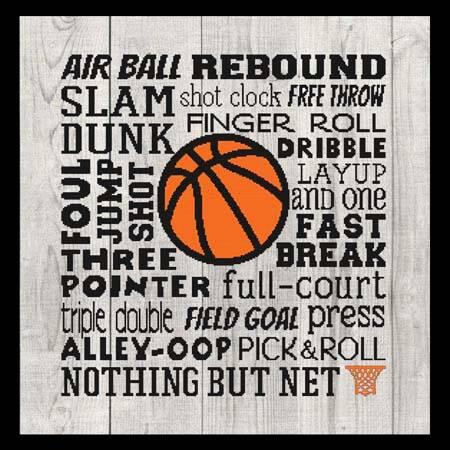 cross stitch pattern Subway Art - Sports - Basketball