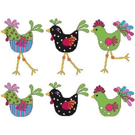 cross stitch pattern Cool Chicks