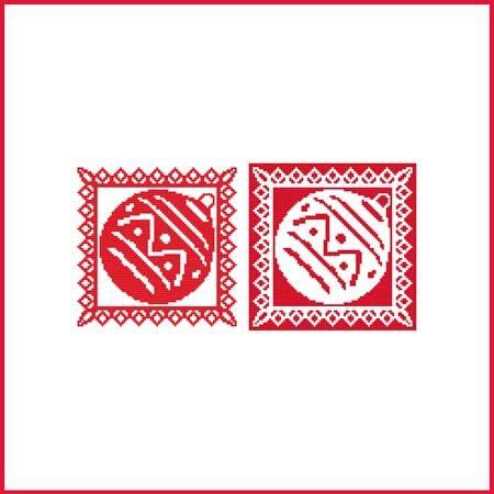cross stitch pattern Christmas Stencil Ornament - Ornament 1
