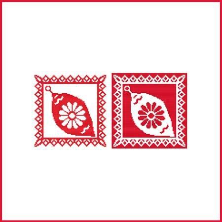 cross stitch pattern Christmas Stencil Ornament - Ornament 2