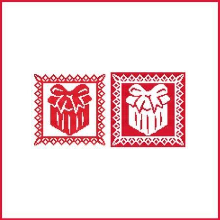 cross stitch pattern Christmas Stencil Ornament - Present