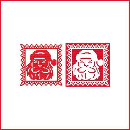 cross stitch pattern Christmas Stencil Ornament - Santa