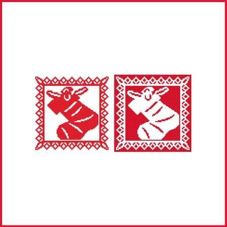 cross stitch pattern Christmas Stencil Ornament - Stocking