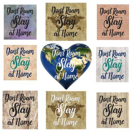 cross stitch pattern Don't Roam Stay At Home