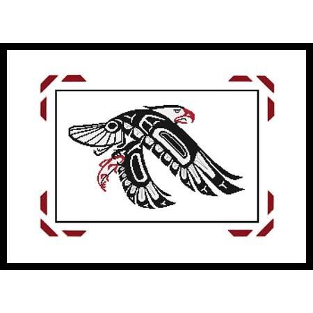 cross stitch pattern A Northwest Coast Native Eagle w/ Salmon