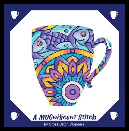 cross stitch pattern A MUGnificent Stitch - FISH
