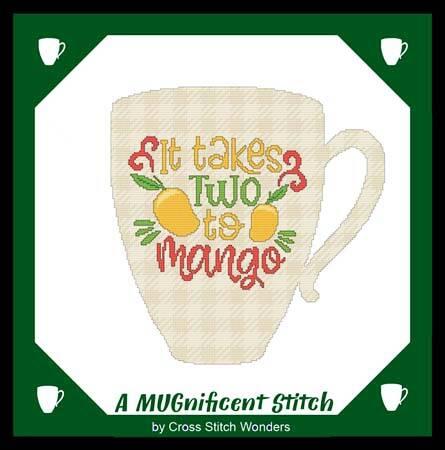 cross stitch pattern A MUGnificent - IT TAKES TWO TO MANGO