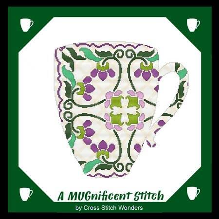 cross stitch pattern A MUGnificent Stitch - REFLECTION MUG 1