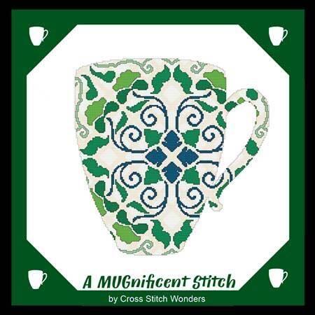 cross stitch pattern A MUGnificent Stitch - REFLECTION MUG 2