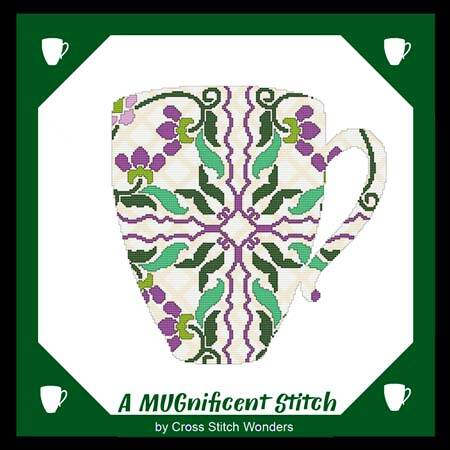 cross stitch pattern A MUGnificent Stitch - REFLECTION MUG 1R