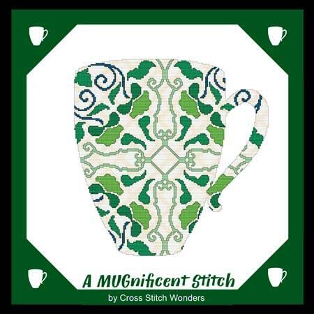 cross stitch pattern A MUGnificent Stitch - REFLECTION MUG 2R